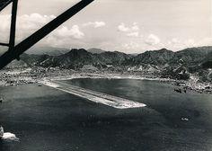 Kai Tak runway: Almost completed. Kai Tak Airport, Checker Board, China Hong Kong, Vintage Photographs, Historical Photos, Bridges, Old Photos, Past, Aviation