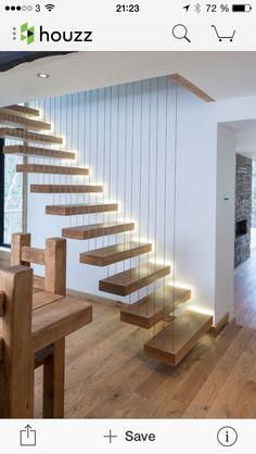 Svävande trappa.. Coolt!!