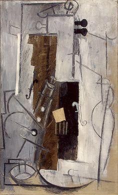 TICMUSart: Clarinet and Violin - Pablo Picasso (1913) (I.M.)