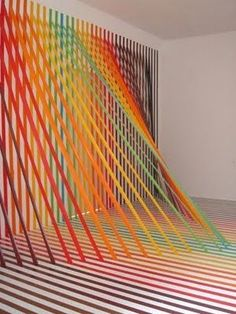 2ad371359b7 TAPE ART - Artist Rebecca Ward  tapeart  tape  installation  rebeccaward   colors