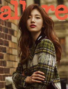 Korean actress and singer Suzy wearing Burberry on the cover of Allure Korea September issue