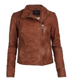 Marsh Leather Biker Jacket, Women, Leather, AllSaints Spitalfields