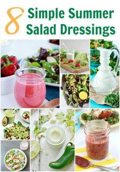 8 Simple Salad Dressings
