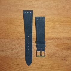 Vintage suede leather strap Viridian Blue with Yvory steaches.  Entirely craftmade in Italy with premium italian leather.  For more info and price: www.19tendesign.com Free shipment to Australia