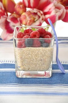 Vanilková quinoa Quinoa, Raspberry, Cereal, Oatmeal, Pudding, Homemade, Fruit, Breakfast, Food