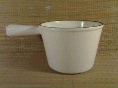 Vintage Le Creuset 1 1/2 Quart Sauce Pan Cast Iron White Enamel Coating 1.5