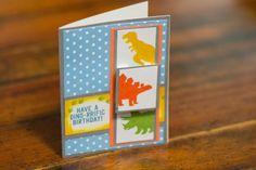 Dinosaur Birthday, Birthday Card, Kids Birthday, Child Birthday, Handmade Card…