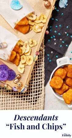 Create a Descendants 2 viewing party with all the wicked charm. Make Uma's signature dish using chicken nuggets and banana chips. Your party guests will be spellbound. Click for more Descendants recipes, and inspiration for your next Disney party. Disney Inspired Food, Disney Food, Disney Stuff, 10th Birthday Parties, Themed Parties, 8th Birthday, Villains Party, Dinner And A Movie, Descendants 2