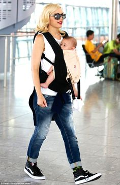 Gwen Stefani and Gavin Rossdale jet out of London with their boys Kingston, Zuma and Apollo
