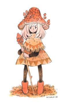 Mushroom Mage by heikala.deviantart.com on @DeviantArt