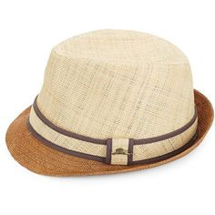Winning Solutions Inc. Tonal Woven Fedora ($40) ❤ liked on Polyvore featuring men's fashion, men's accessories, men's hats, natural, mens wide brim fedora hats, mens fedora hats and men's brimmed hats