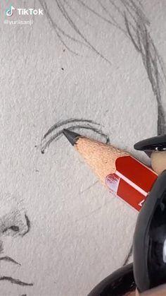 Art Drawings Beautiful, Art Drawings Sketches Simple, Pencil Art Drawings, Realistic Drawings, Digital Art Tutorial, Art Sketchbook, Art Techniques, Aesthetic Art, Makeup Eyes