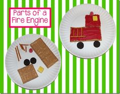 Fire Truck cooking activity as a brace map! Great for teaching about fire safety or community helpers! Preschool Cooking, Preschool Snacks, Preschool Activities, Preschool Winter, Fire Safety Week, Fire Prevention Week, Community Helpers Preschool, Autumn Activities, Fire Trucks