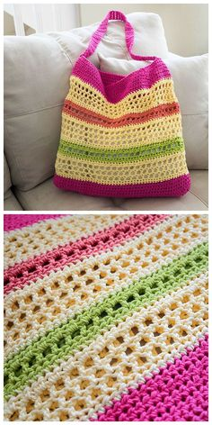 Crochet Beach Tote - free Pattern