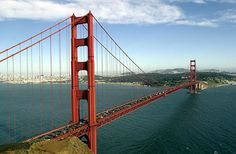 The Golden Gate Bridge spans the bay in San Francisco, California. (Photo By Justin Sullivan/Getty Images) Great Places, Places To See, Places Ive Been, Beautiful Places, Beautiful Scenery, San Francisco Bridge, Bridge Wallpaper, Across The Bridge, Golden Gate Bridge