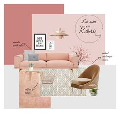 Designer Clothes, Shoes & Bags for Women Muuto, Decoration, Recliner, Collages, Pink, Chair, Polyvore, Stuff To Buy, Furniture
