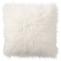 Pottery Barn Mongolian Faux Fur Pillow Cover - Ivory ($49) ❤ liked on Polyvore featuring home, home decor, throw pillows, fillers, pillows, beige throw pillows, pottery barn, ivory throw pillows, plush throw pillows and cream throw pillows