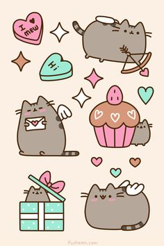 Pusheen Valentine's Day