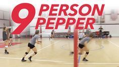 """pepper drill Teach ball control and transition with pepper."""" In this fast-paced drill, the front row attacks on both sides of the net, remaining in """"transition and hit"""" mode until they've completed 10 successful returns. This offers trai Volleyball Passing Drills, Volleyball Skills, Volleyball Practice, Volleyball Training, Volleyball Workouts, Basketball Skills, Volleyball Quotes, Coaching Volleyball, Volleyball Players"""