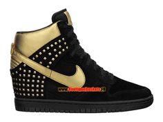 pretty nice b268b f224d Nike Wmns Dunk Sky Hi Studs QS - Chaussure Montante Nike Pas Cher Pour  Femme Noir