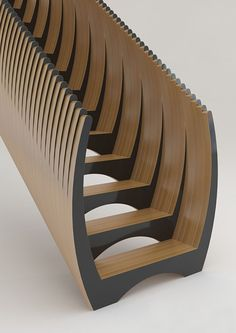staircase with closed sides, without railing #wood