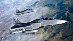 Gripen fighters flying over Western Cape Air Force Aircraft, Fighter Aircraft, Fighter Jets, Military Helicopter, Military Aircraft, Volvo, Saab Jas 39 Gripen, Swedish Air Force, Military Crafts