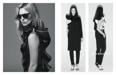 Kate Moss and Mariacarla Boscono photographed by Mert Alas and Marcus Piggott.  Photos courtesy of Givenchy