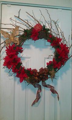 Butterfly Christmas wreath