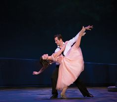 """Leanne Cope with New York City Ballet principal Robert Fairchild in """"An American in Paris"""" (photo by Angela Sterling, courtesy An American in Paris)"""