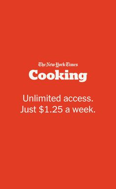 Feast on NYT Cooking and explore more than 18,000 recipes for every meal. Dig into in-depth cooking guides. Fill your personal Recipe Box. And much more. See what our experienced home cooks and expert food writers bring to the table. Subscribe today.