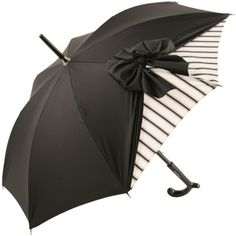 Drape Parasol in Black and Cream Stripe by Chantal Thomass...SWAG