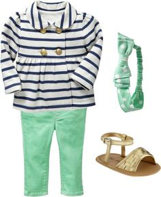 Toddler fashion... Too cute! Minus the sandals...