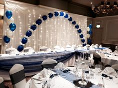The Manor Hotel Yeovil wedding backdrop and balloons
