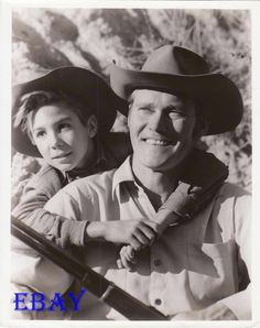 Johnny Crawford Chuck Connors RARE Photo The Rifleman | eBay