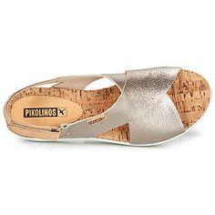 Pikolinos MYKONOS W1G Plateado - Envío gratis | Spartoo.es ! - Zapatos Sandalias Mujer 79,96 € Mykonos, Flats, Shoes, Fashion, Templates, Totes, Leather, Feminine, Accessories