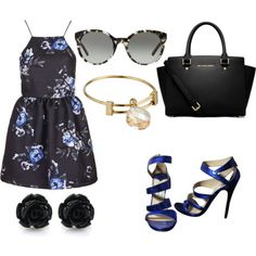 Untitled #868 by emmahhayes on Polyvore featuring polyvore fashion style Topshop Jimmy Choo MICHAEL Michael Kors Alex and Ani Tory Burch