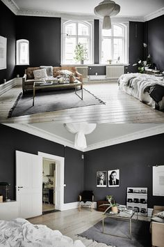 Home Designing — (via Black & White Scandinavian Interiors That...