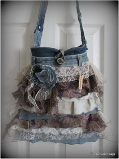 Large Romantic Handbag, Gypsy, Victorian, Shabby Chic, Vintage