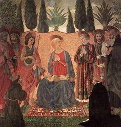 Turkotek Salon A. Baldovinetti.Madonna and Child. Uffizi. Florence.