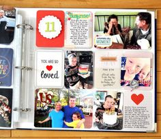 streamlined colorful project life #scrapbooking