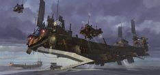 """pixalry: """" Sci-Fi Mech Concept Art - Created by Ian McQue Prints of these illustrations are available for sale from the artist's shop. Grand Theft Auto, Concept Ships, Concept Art, Steampunk Festival, Sci Fi Spaceships, Anime City, Digital Art Gallery, Spaceship Art, Image Digital"""