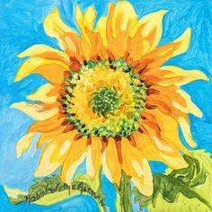 Einstein Sunflower Beach Print Tile Murals, Tile Art, Lambs For Sale, Sunflower Kitchen, Sunflower Fields, Tile Installation, Coastal Art, Beach Print, Art Projects