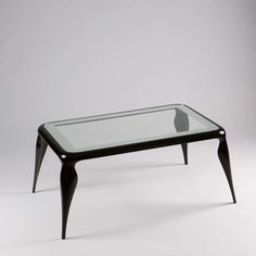 Pietro Chiesa; Lacquered Wood and Glass Coffee Table for Fontana Arte, 1936.