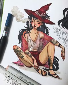 "26.4k Likes, 99 Comments - Jacquelin de Leon (@jacquelindeleon) on Instagram: ""witch sketchbook doodle✨ . #illustration #jacquelindeleon #sketchbook #witch #sketch"""