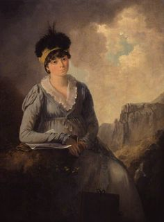 Bella Ibbetson (née Thompson) by Julius Caesar Ibbetson oil on panel, 1803