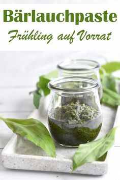 Bear's garlic paste in stock, for seasoning, for wild garlic butter or wild garlic cream cheese, bear's garlic, e. with the Thermomix Pesto Dip, Pesto Pasta, Healthy Sandwiches, Sandwich Recipes, New Recipes, Healthy Recipes, Couscous Recipes, Wild Garlic, Grilled Sandwich