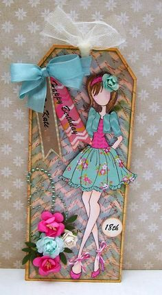 Prima Doll Stamps _ Artfull Crafts - Julie Nutting dolls from Prima Prima Paper Dolls, Prima Doll Stamps, Card Tags, Gift Tags, Cards, Paper Art, Paper Crafts, Handmade Tags, Doll Crafts