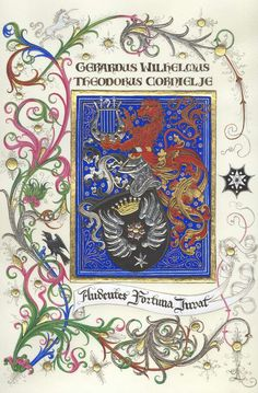 Coat of Arms of the Cornielje family. Principality of Rheinbergen. Family Shield, Medieval Weapons, Medieval Times, Family Crest, Illuminated Manuscript, Coat Of Arms, Prehistoric, Illustrators, Modern Art
