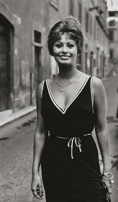 Sophia Loren...unusual to see her with hair this short...