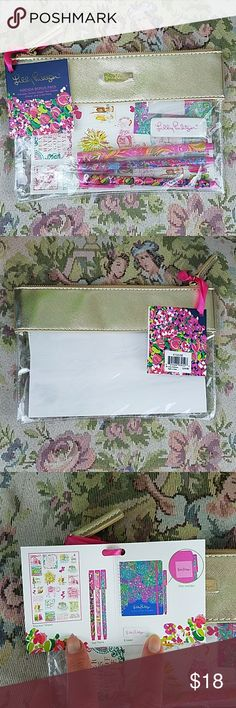 Lilly Pulitzer Agenda Bonus Pack Adorable set of Lilly Pulitzer gel pens, eraser, pen holder, and stickers. Lilly Pulitzer Accessories